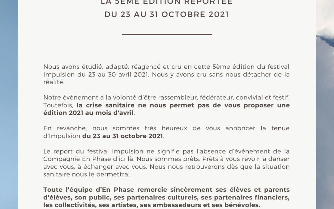 Communiqué de presse – Report Impulsion 2021